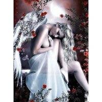 Peinture diamant theme  Angel beauty   broderie complete 5D  perles carrees ou rondes  points de croix  a faire soi-meme  decoration dinterieur  3D