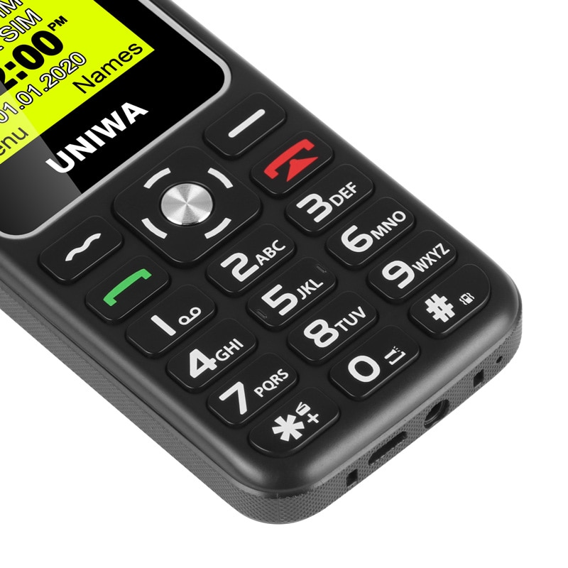 UNIWA V171 SOS 2G Mobile Feature Phone Free Charging Dock 1.77