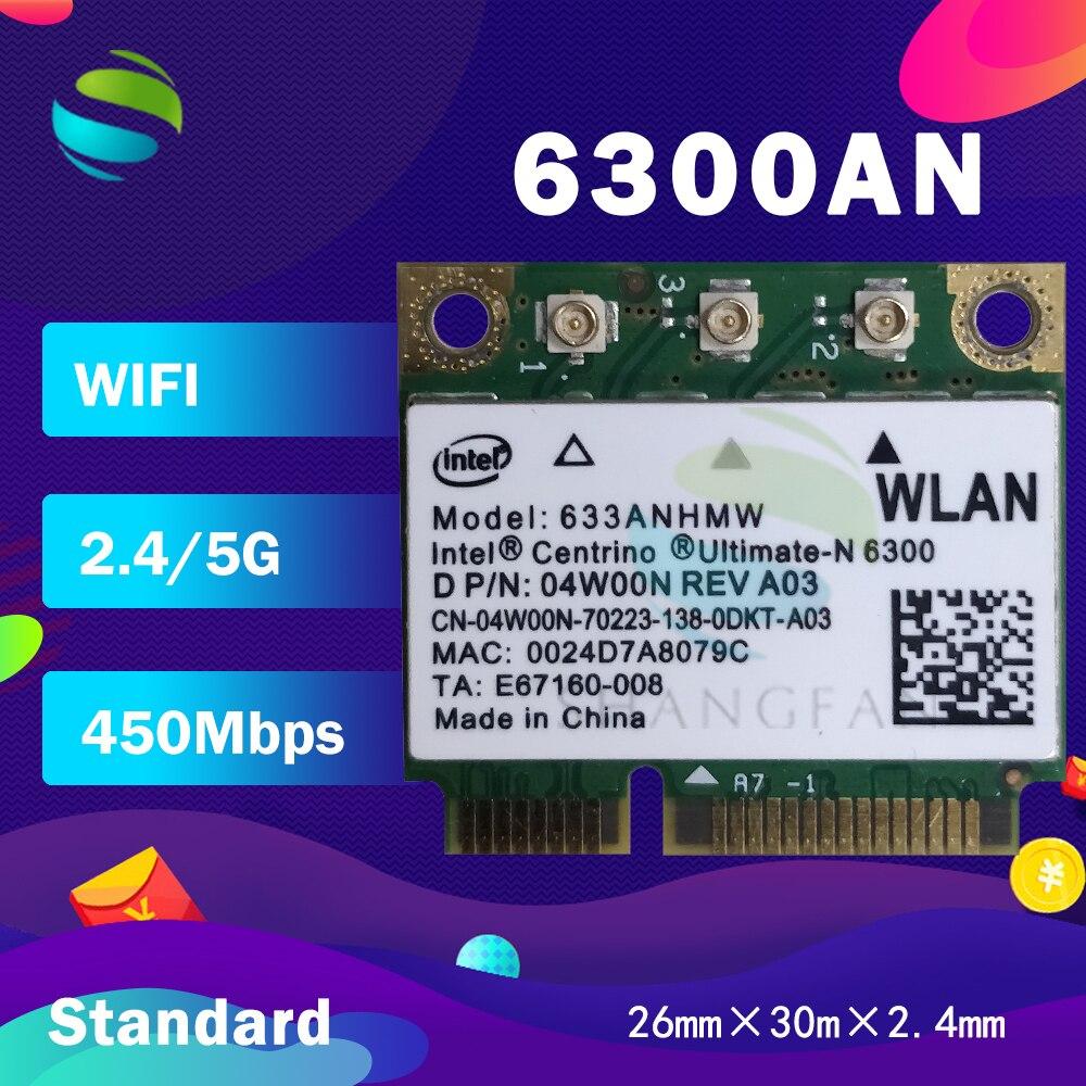 Wifi Card for intel Ultimate-N 6300 633ANHMW 6300AN Dual Band 450Mbps Half Mini  PCI-E WiFi Adapter Wireless Wlan Card