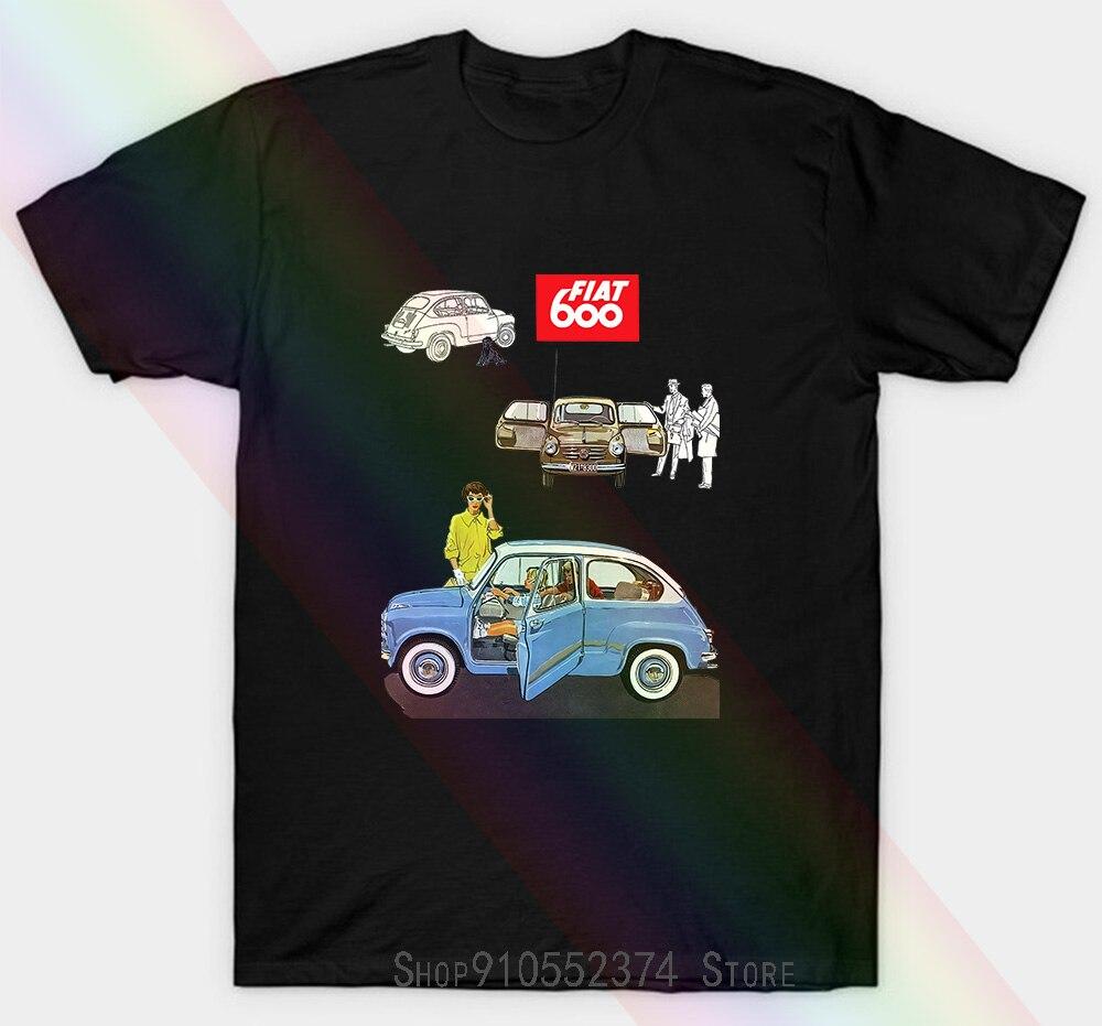 Unisex T-shirt Tributo Fia 600 Auto Mito Anni 50 2 Vintagesize Xs 3Xl