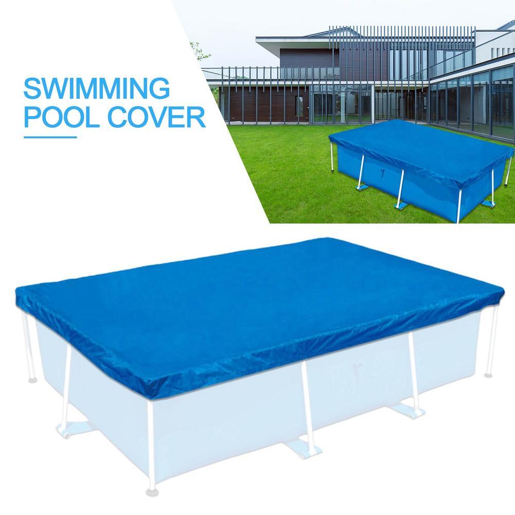 450x220 سنتيمتر مستطيل حمام سباحة البوليستر القماش ساحة الطابق غطاء حوض السباحة سهلة التنظيف في الهواء الطلق إكسسوارات الحديقة