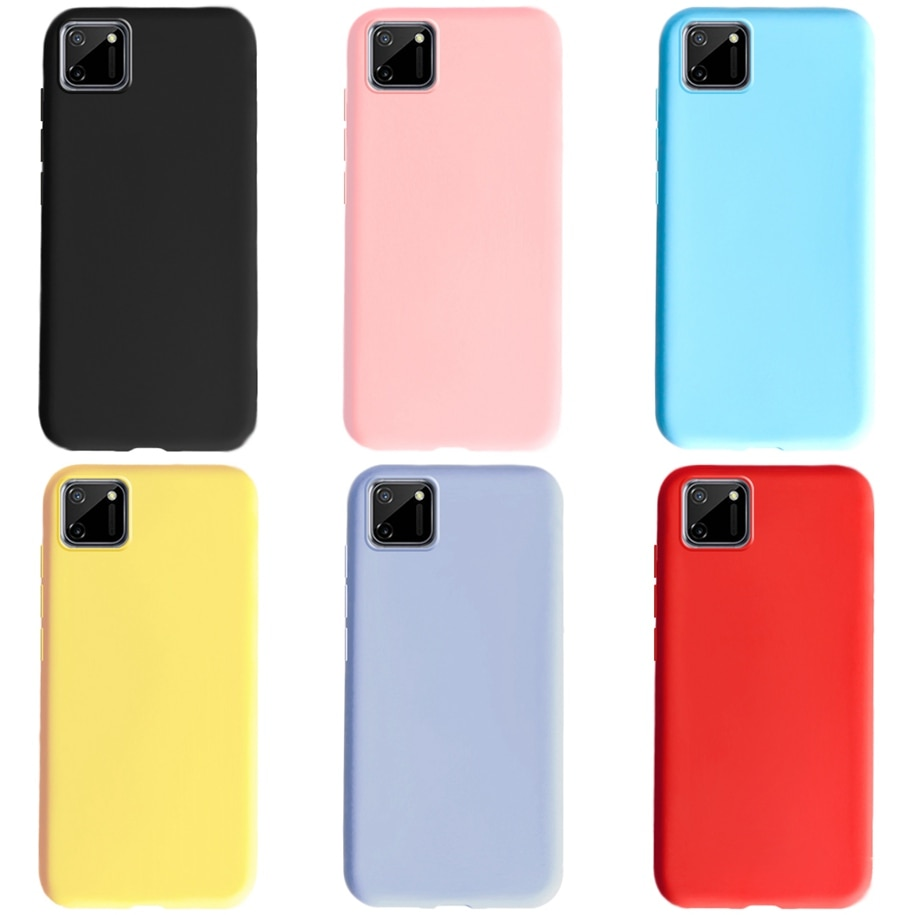 Caso macio para realme c11 caso c 11 capa protetor de silicone líquido pele tpu caso de telefone para oppo realme c11 coque realmec11 casos