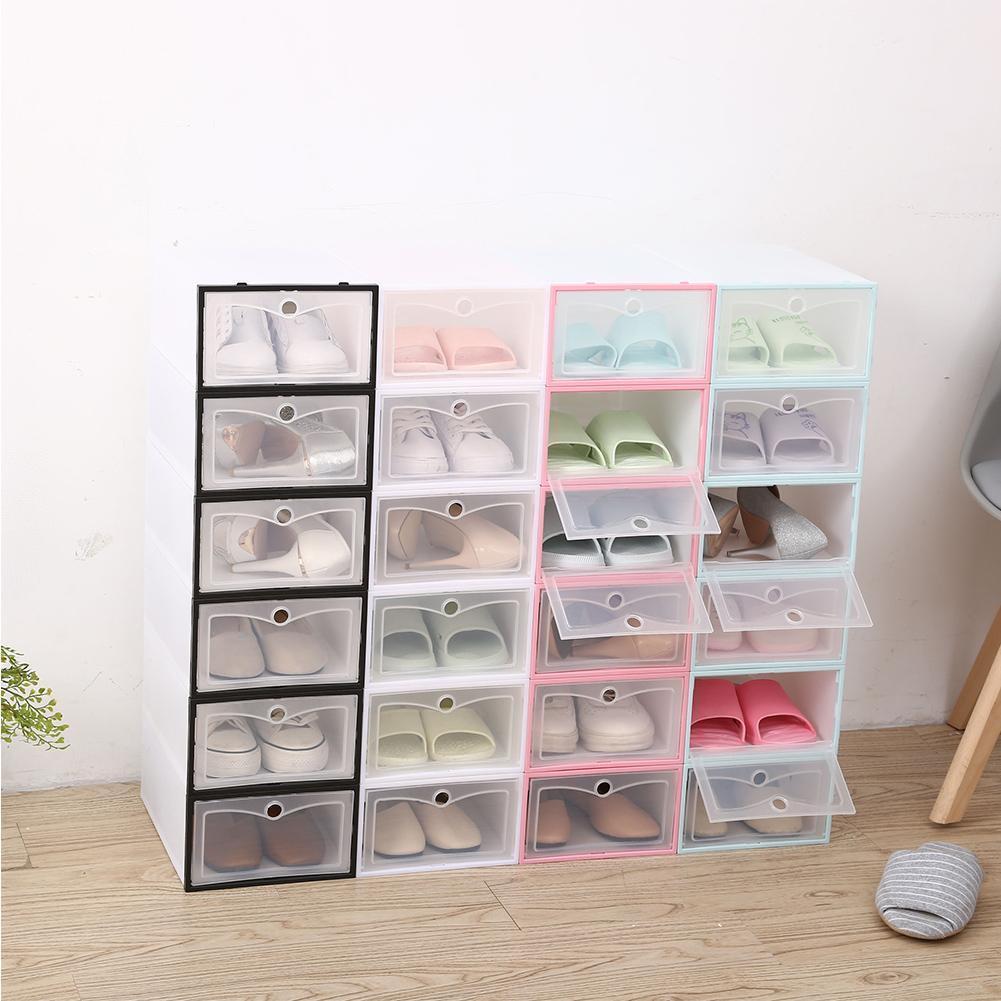 new Shoes Box Transparent Storage Shoe Box Drawer Organizer Household DIY Shoe Box Drawer Divider Home