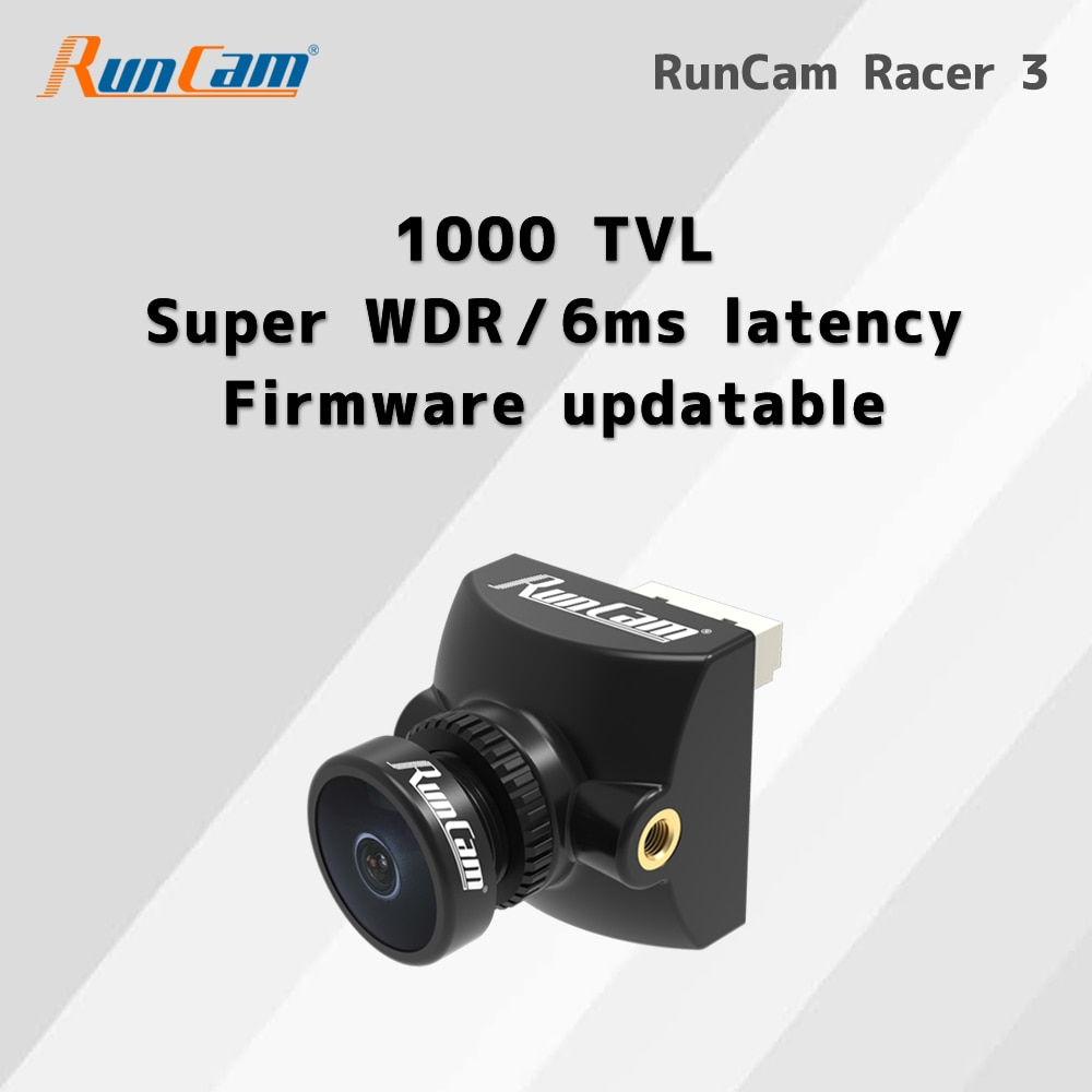 كاميرا سباق RunCam Racer 3 ، كاميرا Micro FPV ، CMOS 1000TVL Super WDR 6ms ، زمن انتقال لطائرة سباق بدون طيار FPV Racer 3 ، كاميرا Micro FPV