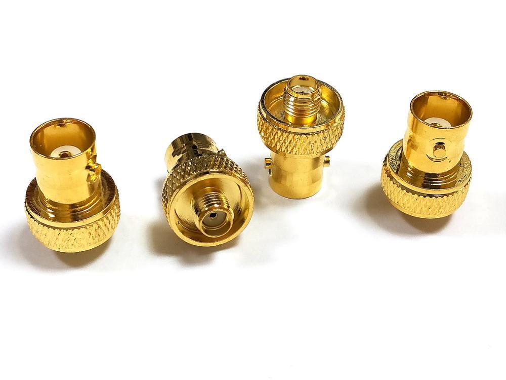 100 قطعة مطلية بالذهب SMA أنثى جاك إلى BNC أنثى التوصيل RF محول موصل بيع
