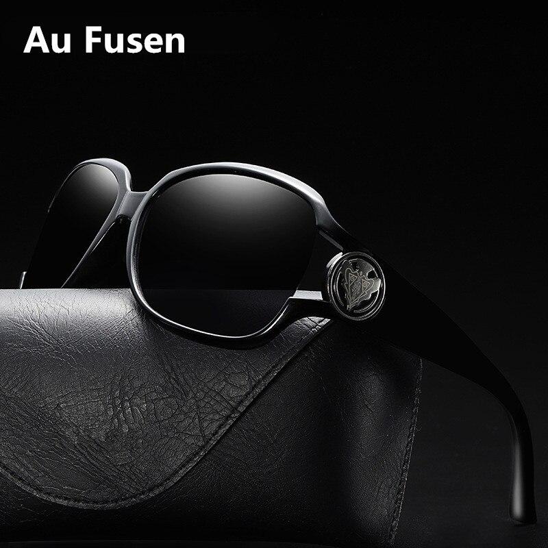 Óculos de sol de designer polarizado feminino alta qualidade hd tac uv400 moda vintage óculos de grandes dimensões tons para mulher