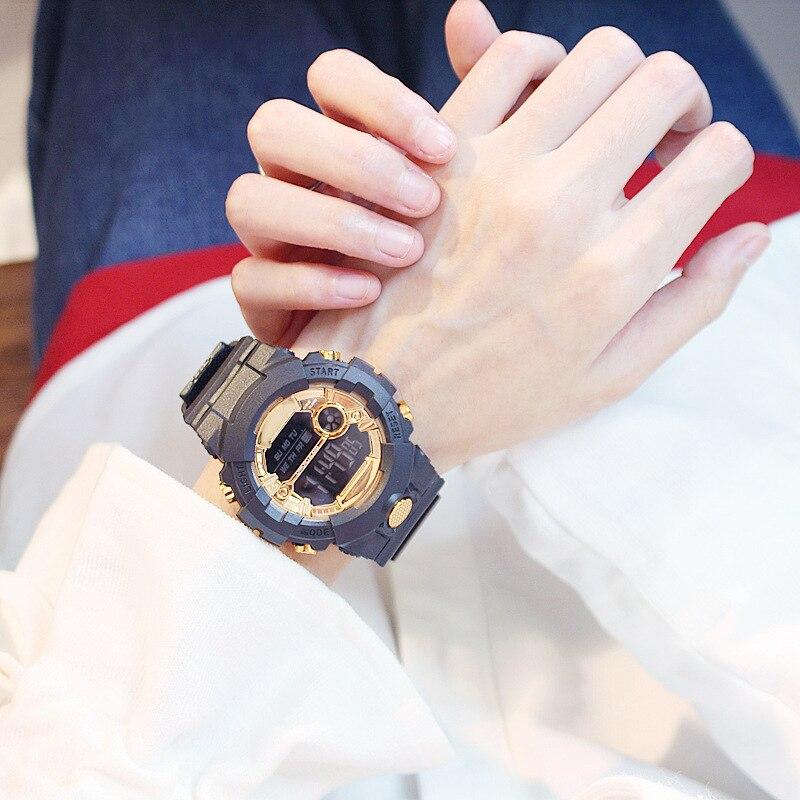 Gran oferta de relojes deportivos de silicona para mujer, reloj Led impermeable para deportes al aire libre para niños, reloj de pulsera negro para niño y niña, reloj de pulsera para mujer