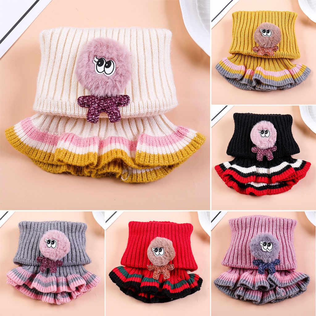 2019 New Winter Baby Scarf Boys Girls Knitted Wool Neck Scarf Warm Cowl Collar Circle Ruffles Szalik Foulard Sjaal Y2 Scarf Aliexpress