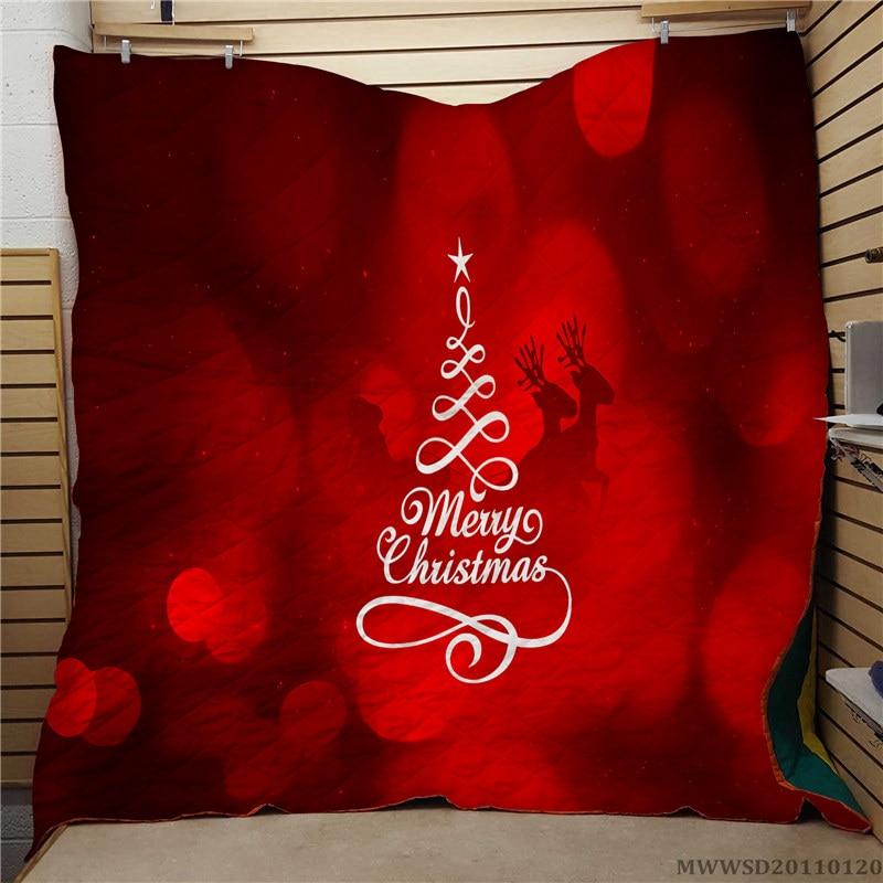 عيد ميلاد سعيد-لحاف مطبوع ثلاثي الأبعاد ، تصميم رائع ، سرير فريد فائق النعومة ، هدية للأطفال ، ديكور غرفة نوم لجميع الفصول