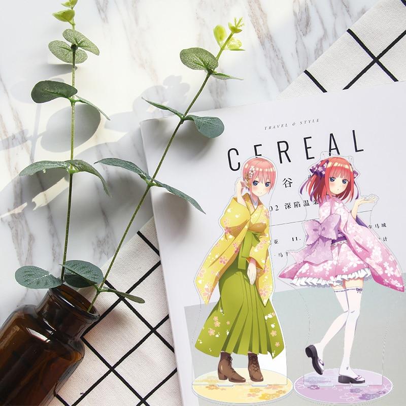 Прекрасные квинтуplets Fuutarou Uesugi Nino Nakano Miku Yotsuba для косплея акриловая анимационная подставка