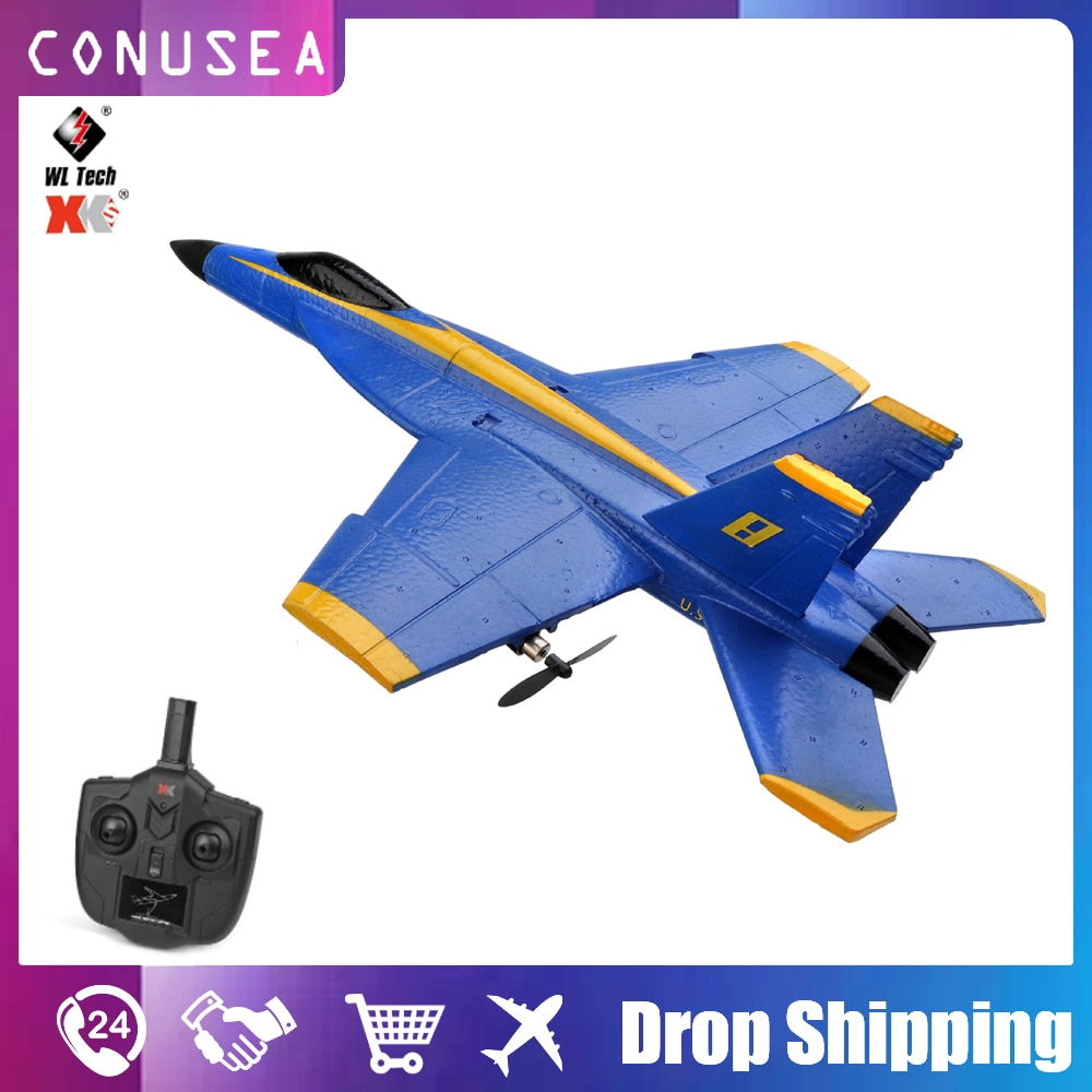 Wl Toy Xk A190 Rc Plane 2.4G 2Ch Rc Airplane Remote Control Aircraft Fixed Wing Outdoor Drone RC Plane Radio Control Boy Toys