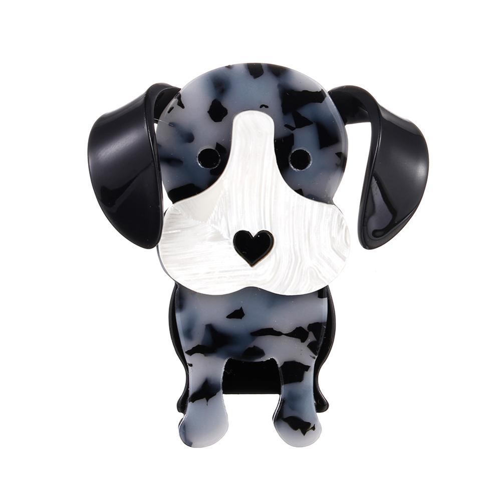 Broches y alfileres de acrílico con forma de perro de punto grande para mujeres niños lindos alfileres de Corsage de animales bufanda bolsa de joyería diario regalos