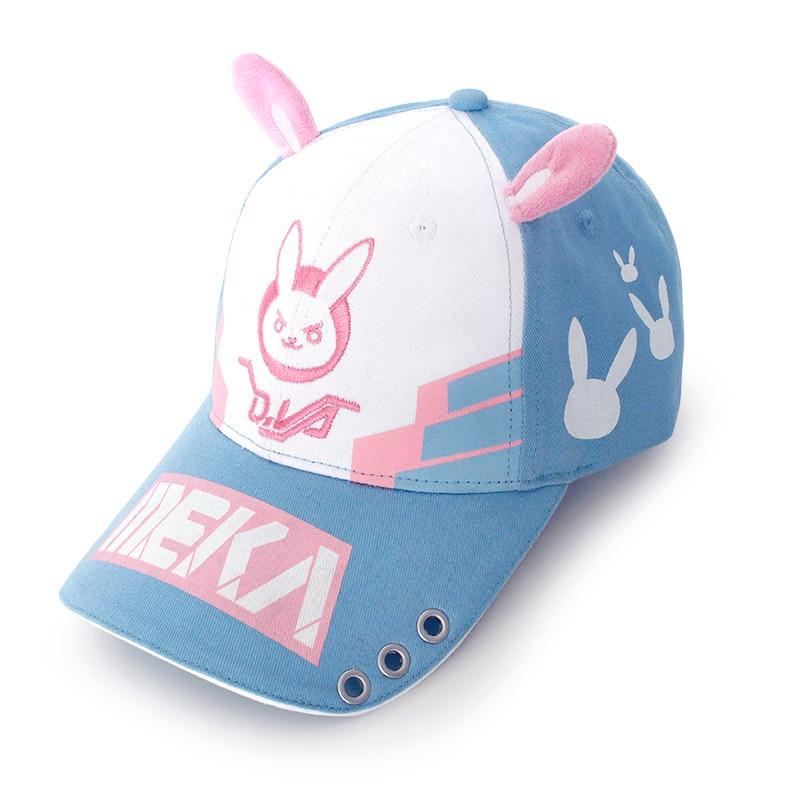 OW D.va DVA sombrero conejo oreja Meka Alice ajustable gorra de béisbol gorra Snapback gorras visera para exteriores sombreros