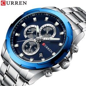 Top CURREN Men Watch Brand Sport Luxury Quartz Mens Watches Waterproof Chronograph Male Wristwatch Date Clock Relogio Masculino