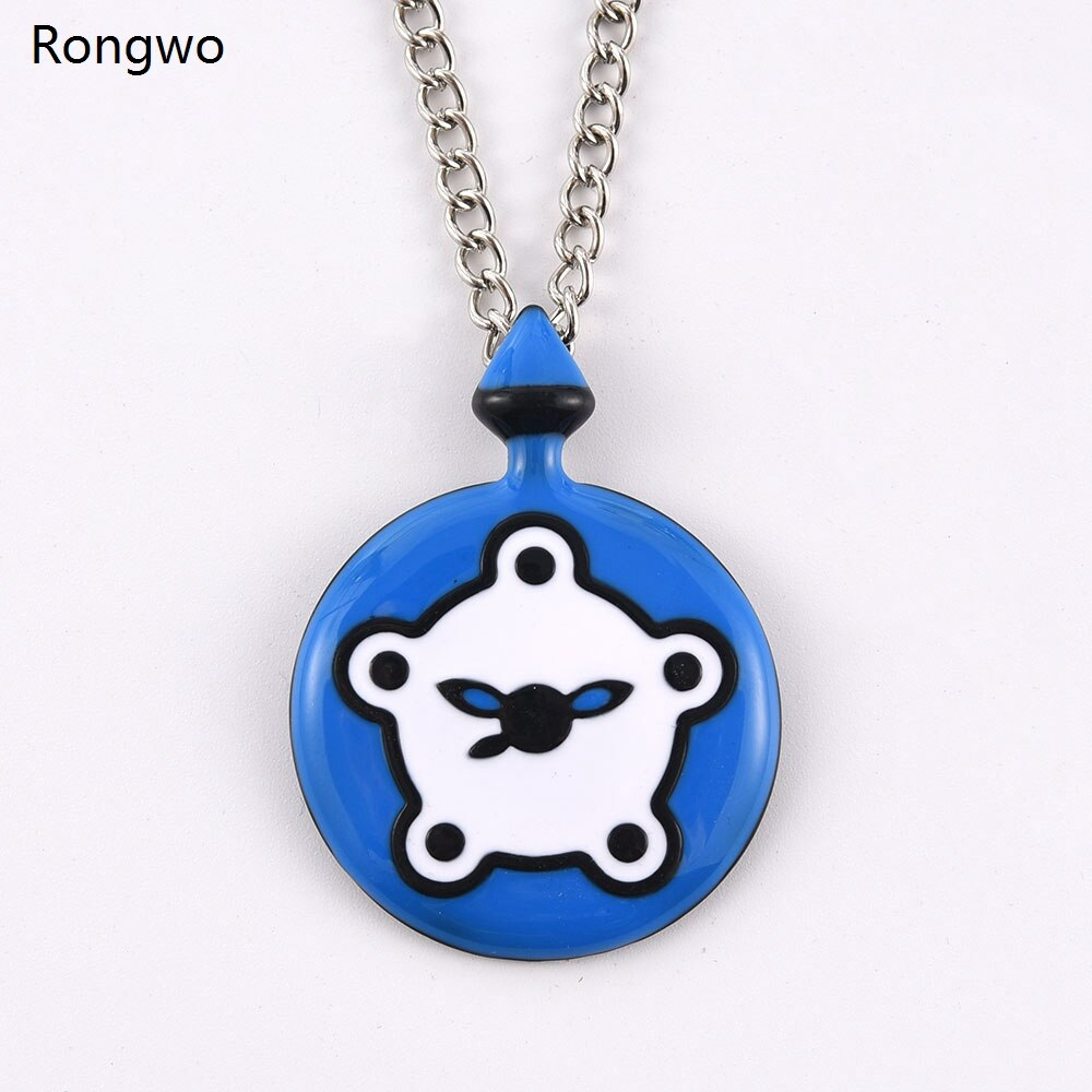 New Ladybug Miracle Bunnix Pocket Blue White Watch Pendant Necklace Metal Chain Rabbit Bunny Kwami J