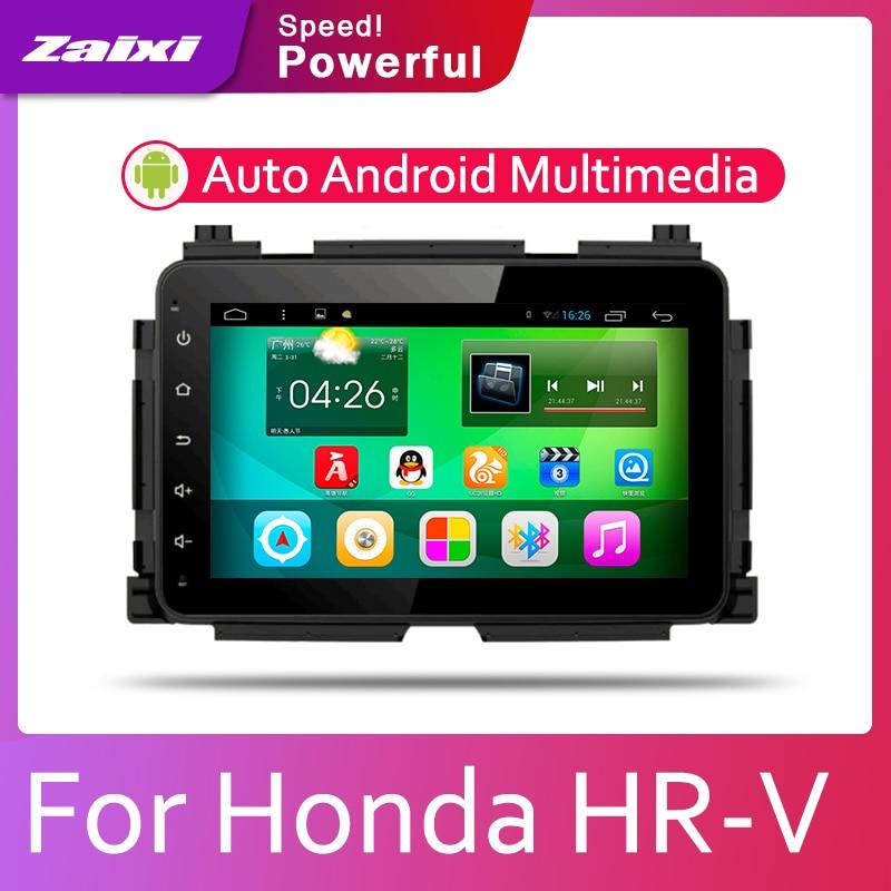 ZaiXi Android auto radio Multimedia Video PlayerStereo mapa GPS para Honda HR-V 2013, 2014, 2015, 2016, 2017, 2018 de 2019 medios de comunicación WIFI BT