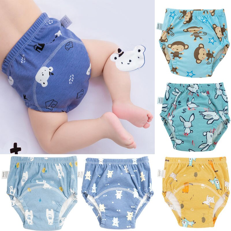 5PC/lot Baby Disposable Training Diapers Adjustable Cloth Diapers Underwear Pant Reusable Washable Baby Nappies Infant Panties