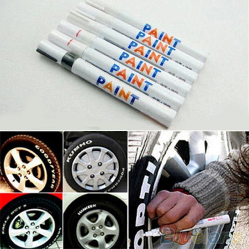 12 Colors Waterproof Car Tyre Tire Tread Rubber Metal Permanent Paint Marker Pen Car Paint Tool недорого