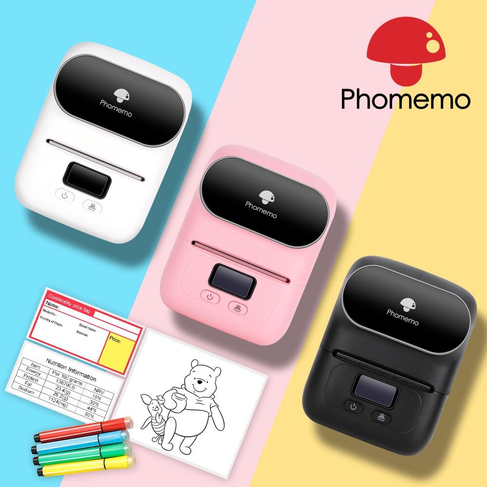 Phomemo M110 Label Printer Impresoras Portatil Photo Imprimante Thermal Mini Portable Termica De Fotos Sticker Printer Machine
