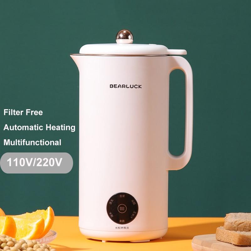 ماكينة تصنيع حليب فول الصويا الصغيرة 110 فولت 220 فولت الصويا ماكينة إعداد الحليب تصفية الحرة التلقائي التدفئة آلة الحليب النباتي عصارة منتج أغ...