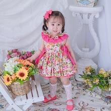 Filles espagnol robes florales pour enfants été bébé espagne Vintage robe de bal enfants fille Boutique vêtements ensemble robes danniversaire