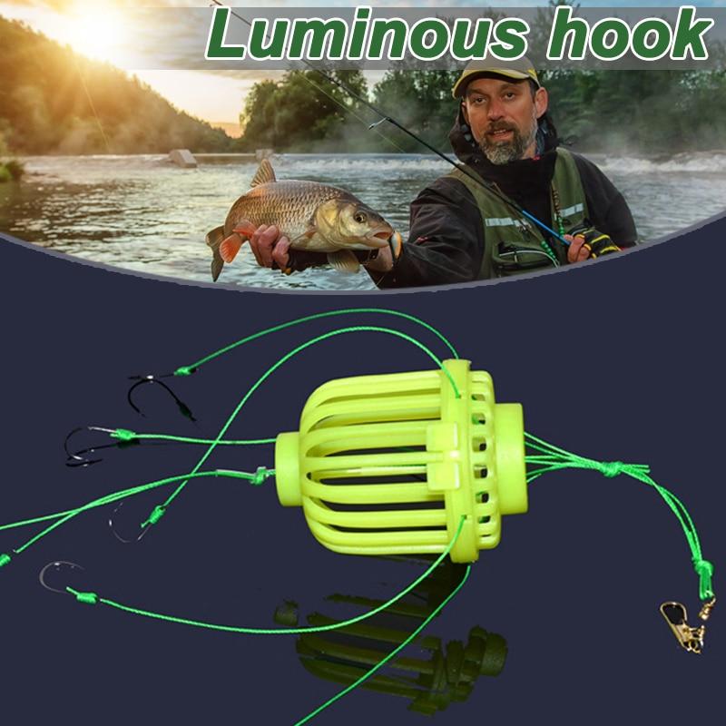Anzuelo de calamar luminoso fluorescente para pesca, anzuelo de explosión de agua para grupo de calamar, jaula de pesca para mina de agua, anzuelo bomba ASD8