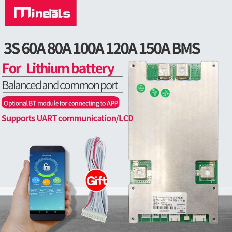 3S 12 فولت ليثيوم أيون 60A 80A 100A 120A 150A الذكية بمس دعم دعم بلوتوث التطبيق يبو المشتركة ميناء بطارية حزمة بم