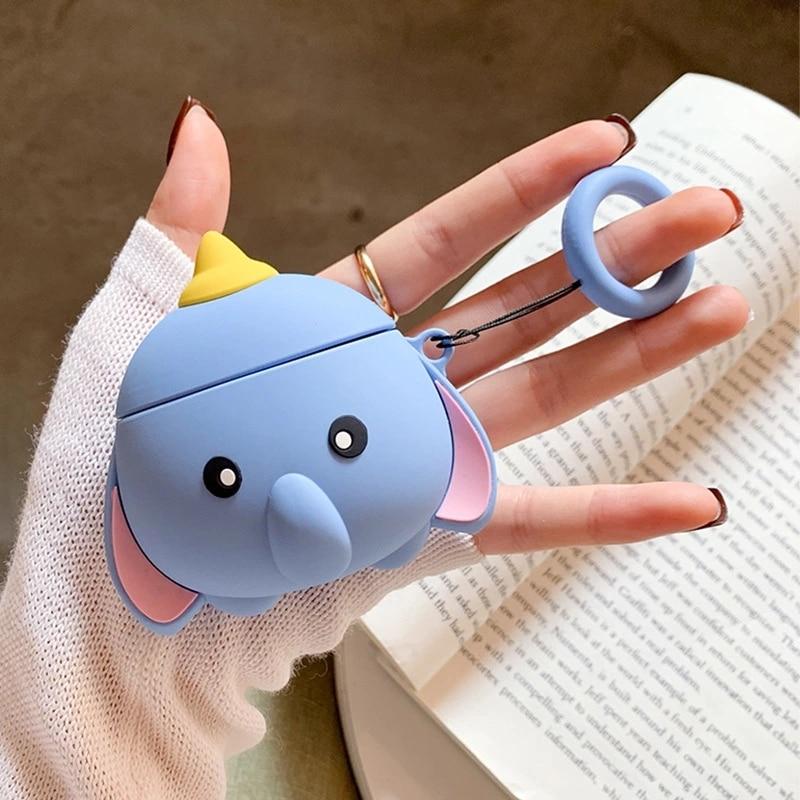 earphone case for Airpods1/2 Earpods Fbluetooth case Silicone Cartoon Cover  earphone cute Ear tool kids phone Case