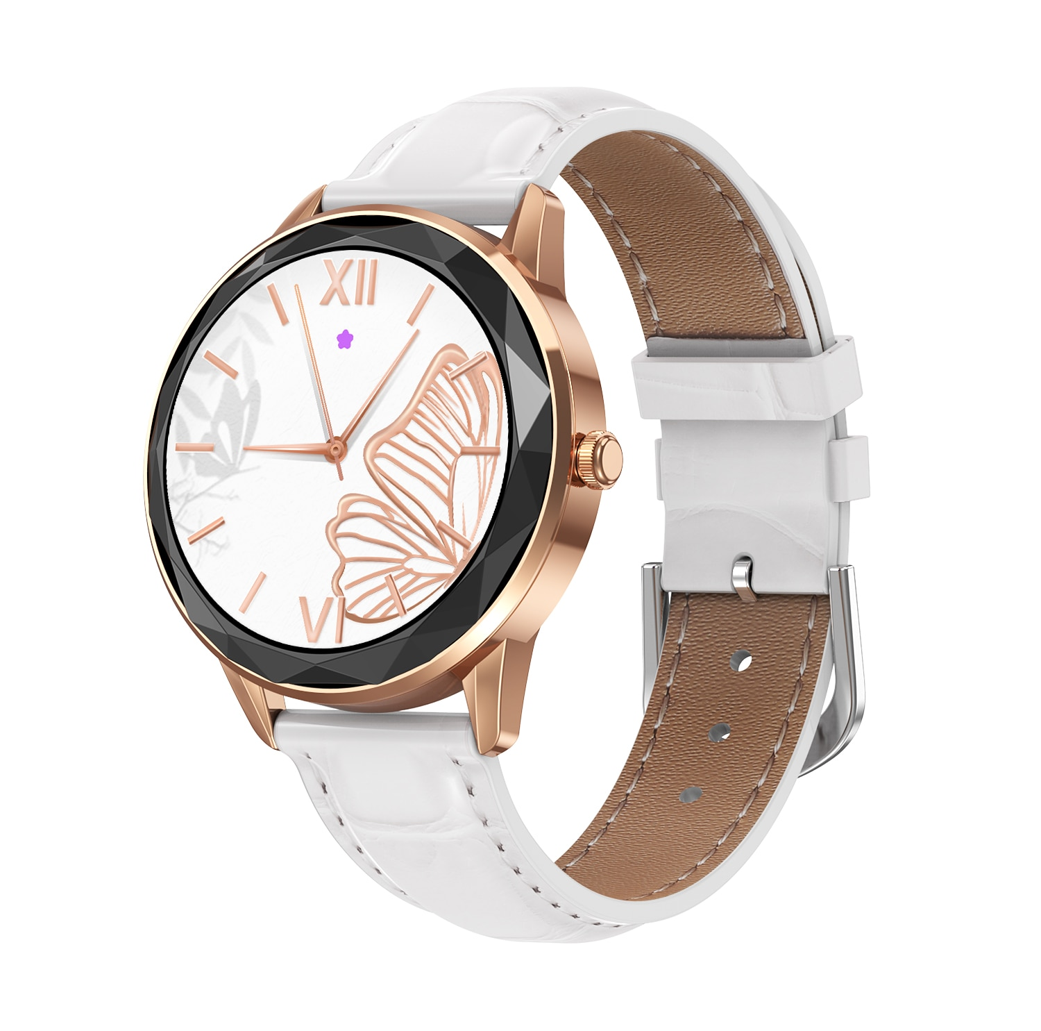 New HDT7 Women's Smart Watch Bracelet 1.09 Full Circle Full Touch Custom Dial Pedometer Heart Rate B