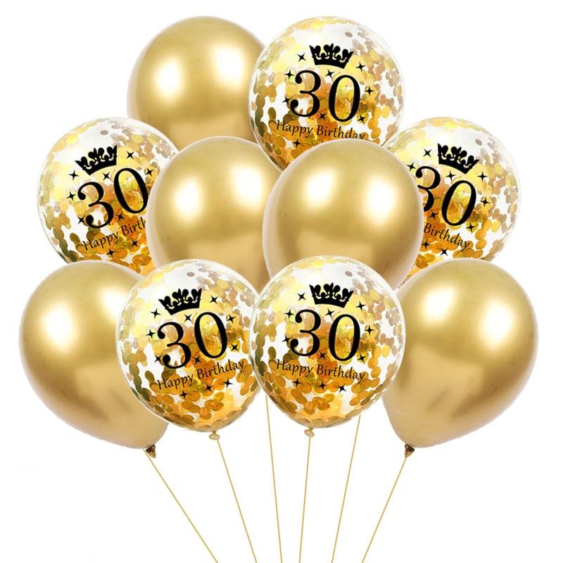 Купить с кэшбэком 30th 40th 50th Birthday Party Balloons Stand Holder Column Black Gold Balloon Birthday Party Decorations Adult 30 40 years old