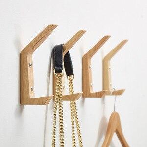 4 шт./компл. креативный настенный деревянный крючок для халата, домашняя кухня, гостиная, вешалка для хранения одежды, ключей, вешалка для пол...