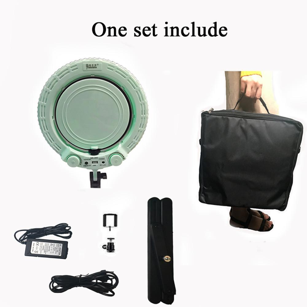 Yidoblo QS280 Mini Photo Studio LED Camera Ring Light Dimmable Phone Video Lamp Fill Light+ table stand for Live Makeup Lighting enlarge
