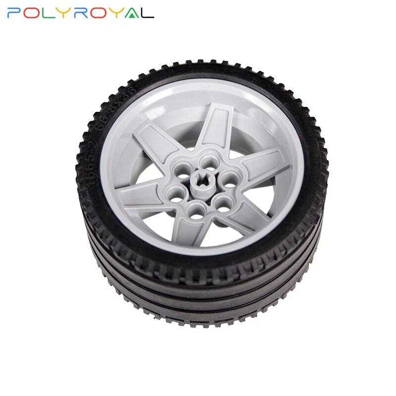 Blocs de construction accessoires bricolage pièces techniques Moc 68.8x36mm pneu cuir roue Compatible assemble particules