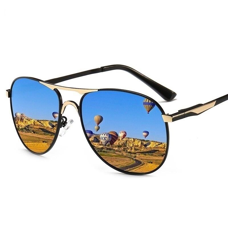Солнцезащитные очки-авиаторы поляризационные UV400 для мужчин и женщин, роскошные брендовые дизайнерские металлические солнечные очки в рет...