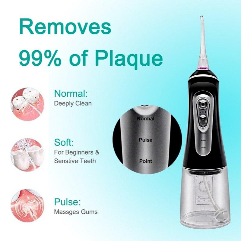 Newest  Oral Irrigator USB Rechargeable  water floss oral care Water Tank Waterproof Teeth Cleaner enlarge