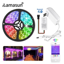 WS2811 5050 SMD RGB LED Strip Light 12V Ribbon Smart APP Bluetooth Controller 60leds/m 1-5M Individually Addressable Diode Tape