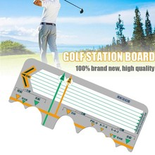 Golf Station Board Swing Trainer Practice Corrective Accessories Training Beginners Calibration Post