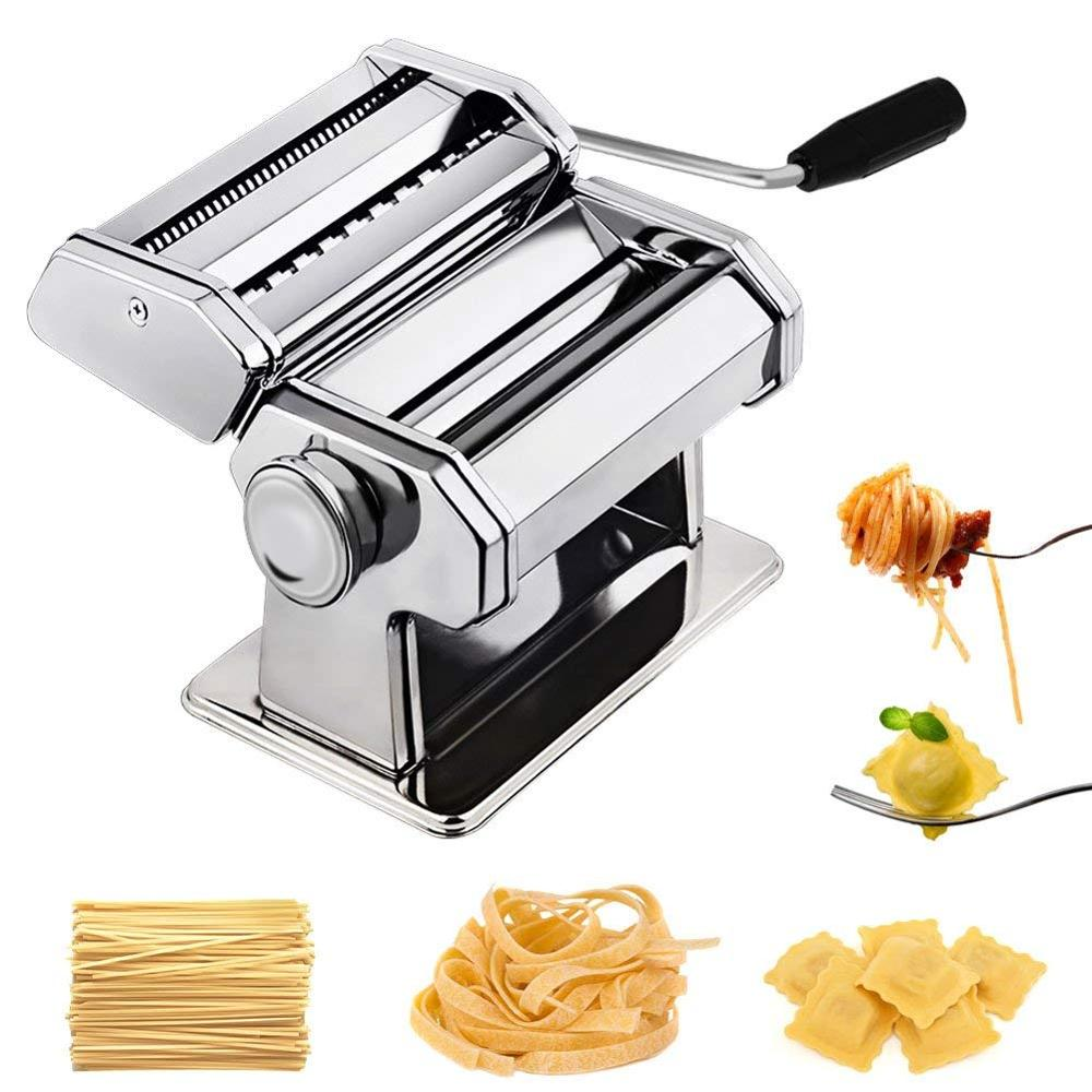 Noodle Pasta Maker Stainless Steel Nudeln Machine Lasagne Spaghetti Tagliatelle Ravioli Noodle Maker Machine Kitchen Pasta Tool stainless steel 2 blades pasta making machine manual noodle maker hand operated spaghetti pasta cutter noodle hanger