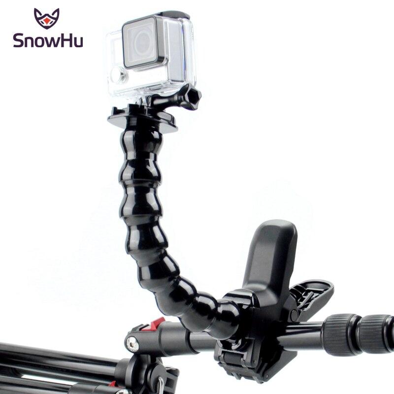 Аксессуары SnowHu для GoPro челюстей Flex Clamp Mount и регулируемая Шея Hero 9 8 7 6 5 sjcam экшн камеры Yi 4K Камера GP152