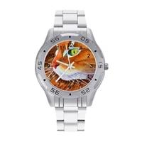 maine coon quartz watch hit sales vintage wrist watch steel woman office photo wristwatch