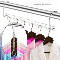 magic clothes hanger hanging chain metal cloth closet hanger shirts tidy save space organizer hangers for clothes closet hangers