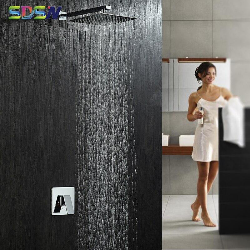 طقم دش مخفي SDSN 8 بوصة ، خلاط حمام كروم ، نظام دش مخفي مثبت على الحائط