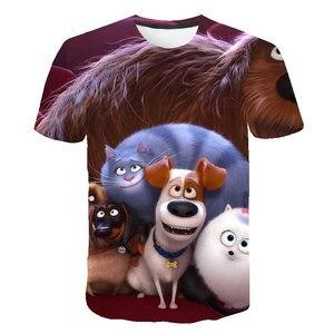 2021 Cute 3D Cartoon T Shirt kids clothes Girls Summer Short Printed Animal t-shirt Boys Funny Teenager Children Casual Tops 14T