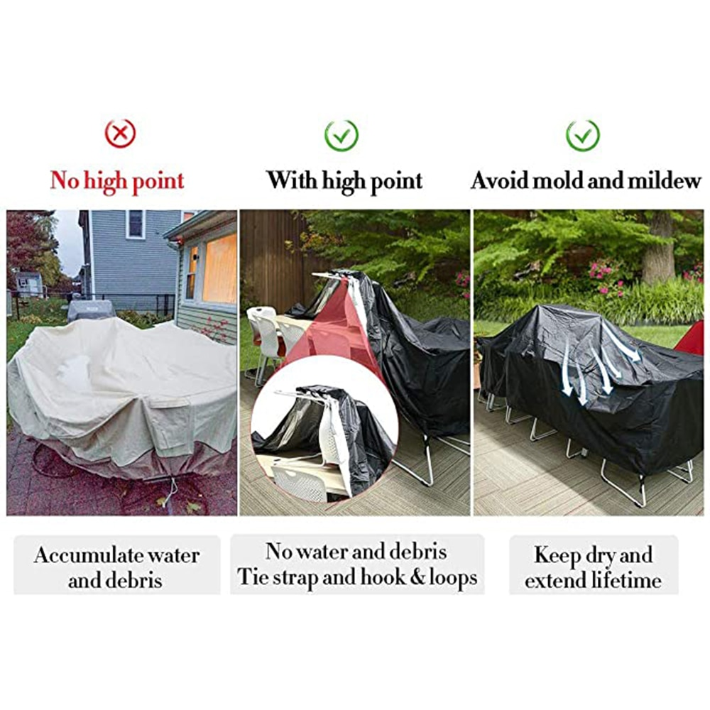 50 Common Sizes Garden Furniture Covers Waterproof Rain Snow Dust Wind-Proof Anti-UV Oxford Fabric Table Waterproof Sofa Covers enlarge