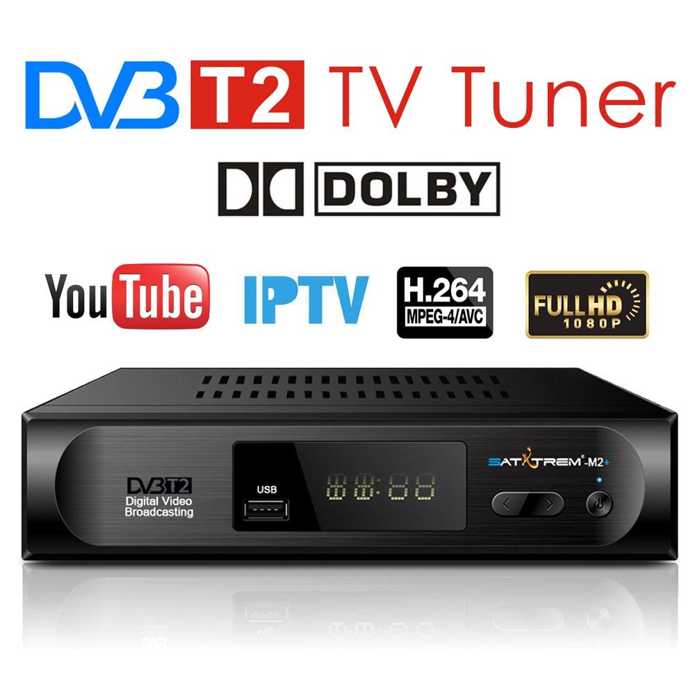 Satxtrem DVB T2 TDT TV Rezeptor Präfix Für Digital TV Tuner DVB-T2 Wifi Empfänger Set Top Box AC3 PVR HDTV 1080P DVB-T Decoder