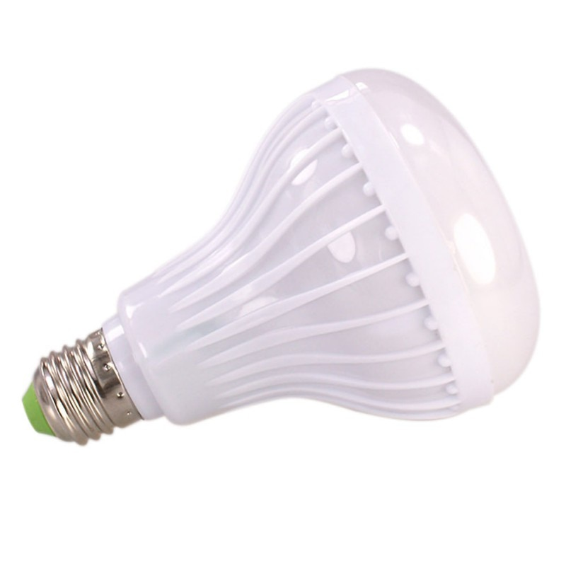 Bombilla LED de música inteligente E27, luces RGB para Altavoz Bluetooth Subwoofer para mostrador de sala/Bar con Control remoto