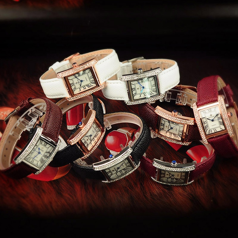 Relogio Feminino Fashion Square Watch Women WWOOR Top Brand Luxury Diamond Leather Bracelet Watch Women Casual Dress Wrist Watch enlarge