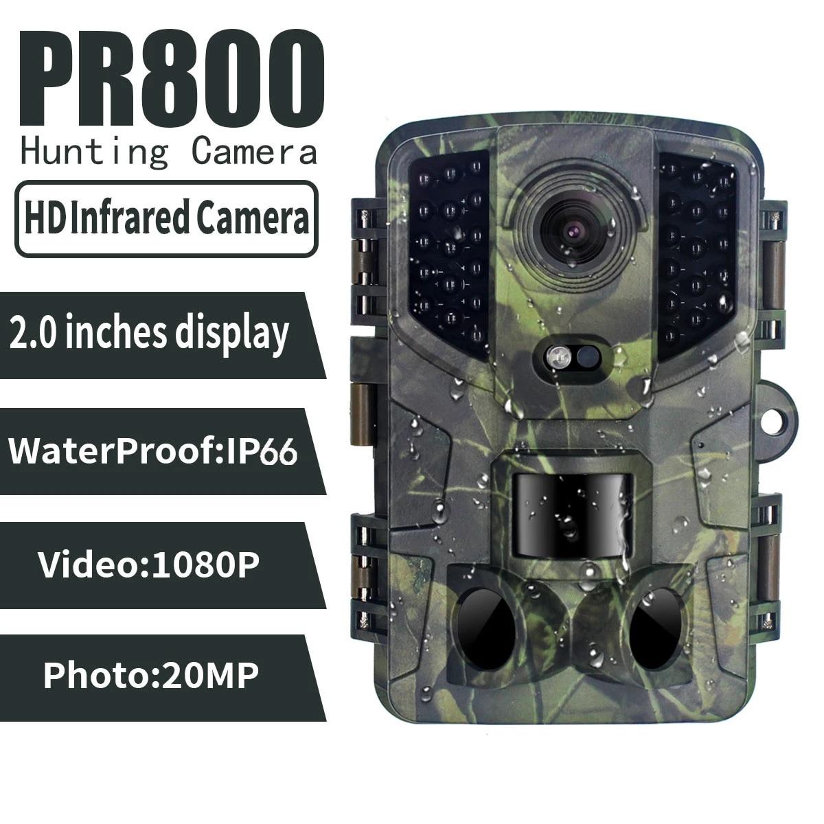 2.0 بوصة شاشة الكريستال السائل PR800 20Mp HD 1080P كامارا ترامبا كازا وايلدكاميرا في الهواء الطلق Ip66 البرية فيو تريل الحرارية للرؤية الليلية الكاميرا