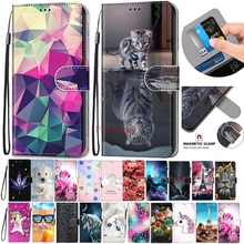Flip PU Leather Case For LG K40 LMX420EM case 3D Wallet Card Holder Stand Book Cover Cat Dog Painted Coque For LG K 40 Cases
