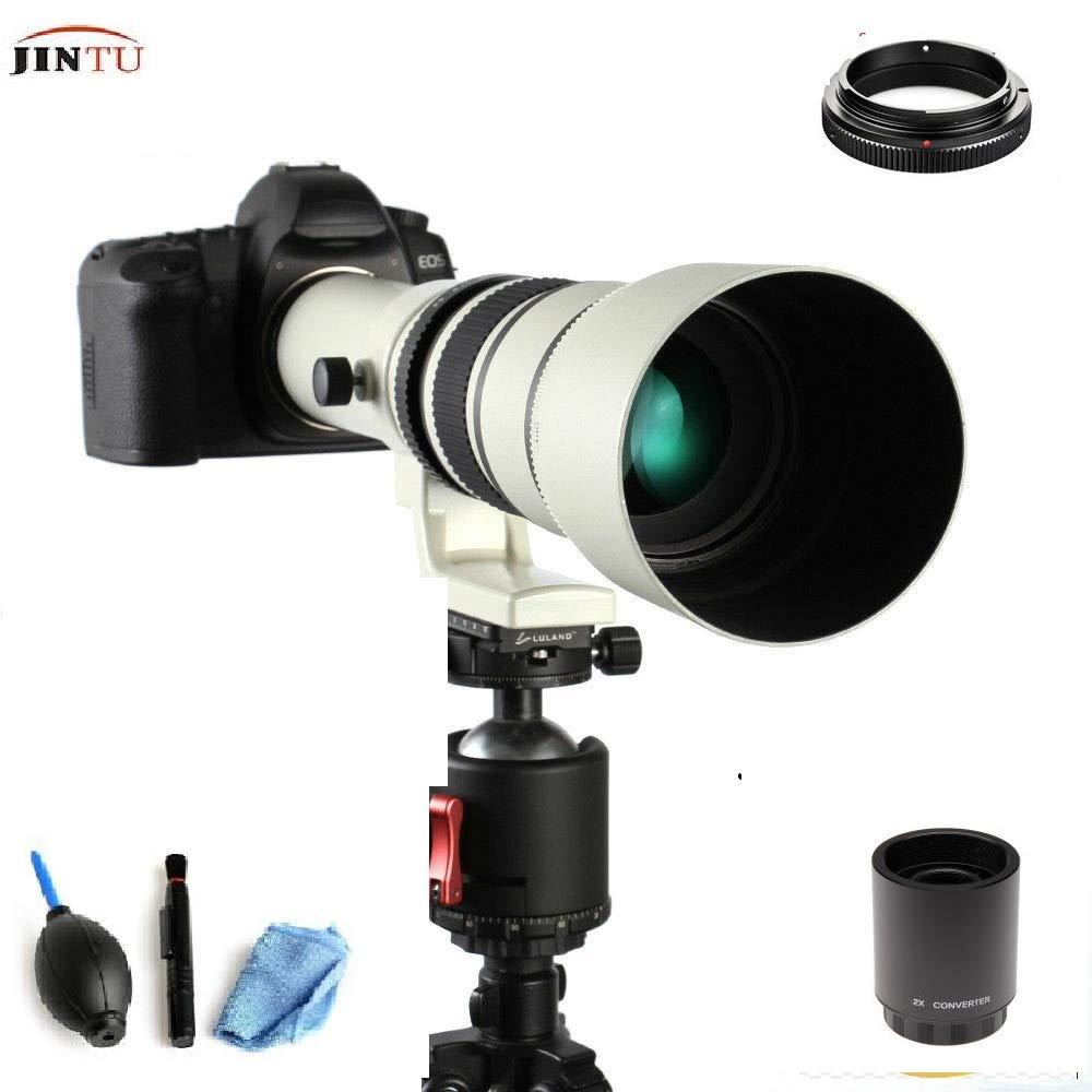 JINTU 500 مللي متر/1000 مللي متر f8.0 تليفوتوغرافي مرآة عدسات لكاميرات كانون EF EOS كاميرات DSLR
